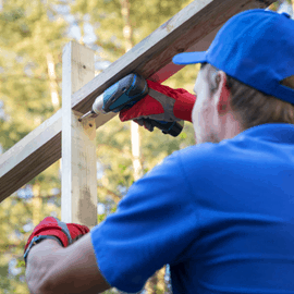 montaż domku
